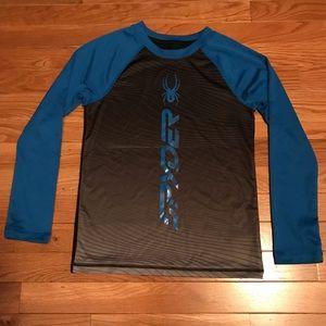 Boys Size Small Spyder Long Sleeve Dri-Fit T-shirt